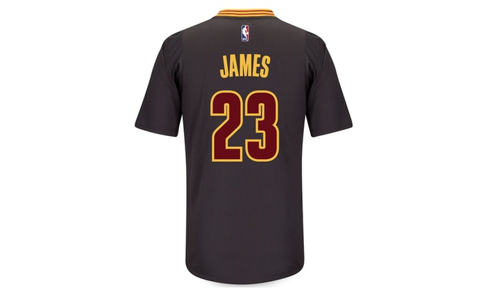 super popular 536a2 fbb7b LeBron James Cleveland Cavaliers Swingman Black Short Sleeve Jersey - S