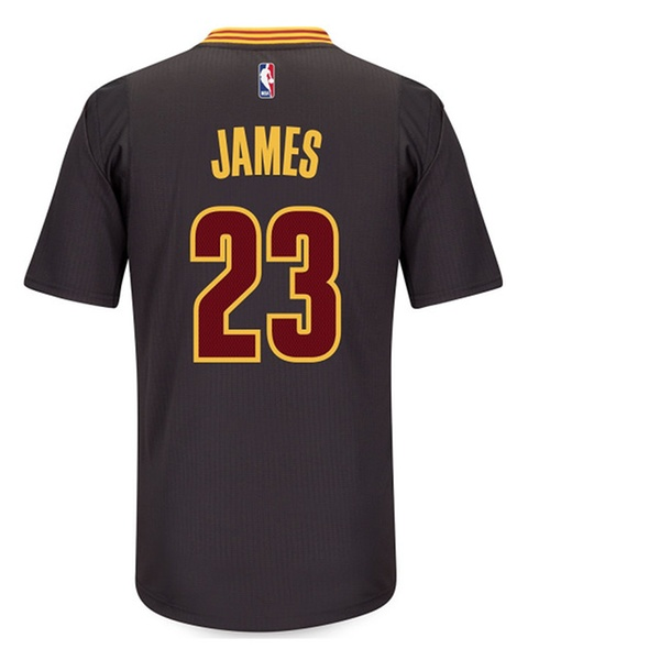 super popular bf08e b6420 LeBron James Cleveland Cavaliers Swingman Black Short Sleeve Jersey - S
