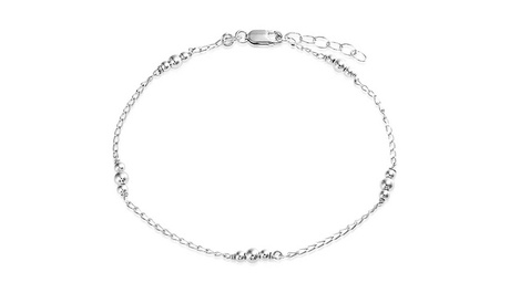 Bling Jewelry Ankle Bracelet 925 Silver Ball Jewelry Beaded Anklet