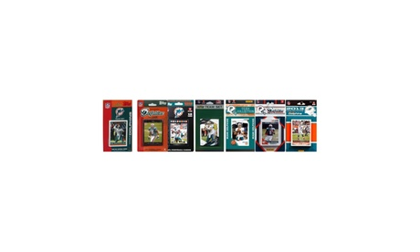 NFL Miami Dolphins 7 Different Licensed Trading Card Team Sets 74bb4c38-1cf0-4b13-853f-dbdef8d3d080