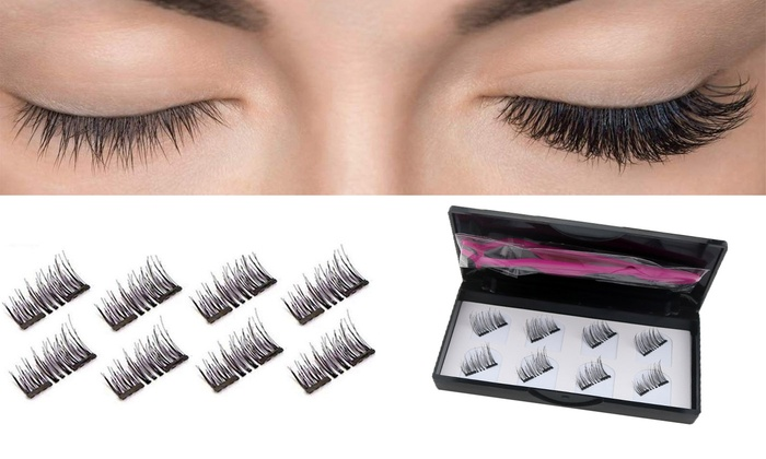 Up To 83% Off on 8Pcs 3D Magnetic Eyelashes Re      Groupon