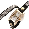 Women Vintage Crystal Band Bracelet Dial Quartz Wrist Analog Watch