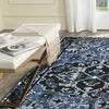 LR Home Infinity Traditional Persian Black / Blue Indoor Area or Runner Rug