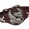 Genuine Harley Rider Leather Wristband Bracelet for Unisex