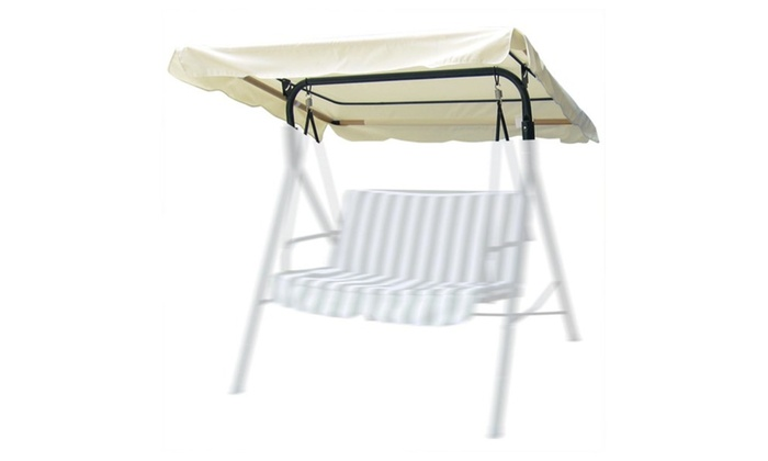 76 X44 Outdoor Patio Swing Canopy Top Replacement Cover Garden