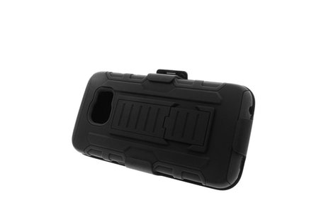 Shockproof Rugged Armor Hybrid Stand Case Holster For Samsung...