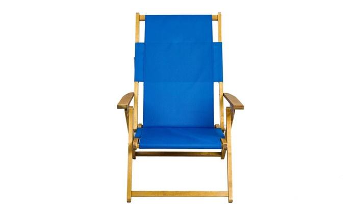 apex living portable patio wooden beach folding adjustable chair