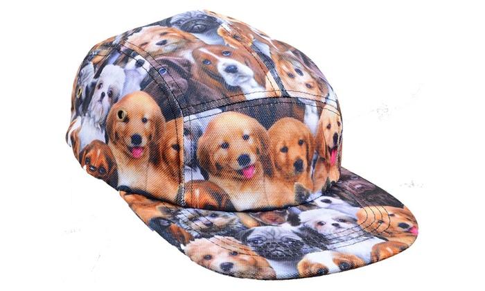 Puppy Love Dog Print Fashion Baseball Hat Unisex