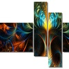 Never Ending - Large Abstract Canvas Art Print - 63x32 - 4 Panels