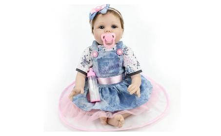 "22"" Silicone Vinyl Reborn Doll Baby Lifelike Baby Newborn Handmade 745989ff-abd4-4911-a767-932be3e7c65a"