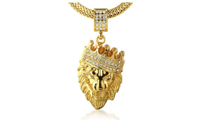 kingdom chain plated real rope pendant with gold necklace gemstone wing halukakah free ruby