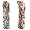 Fashion Printed Long Dress Sleeve Empire Flower