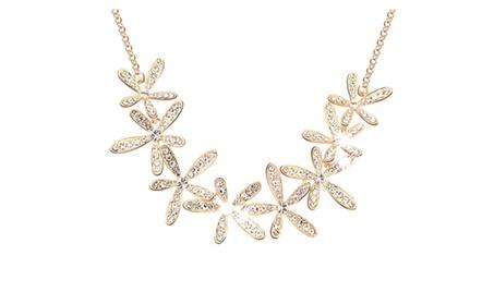 Rhinestone Snowflake Pendant Alloy Choker Chain Necklace 8cbfe580-6db4-471f-b6b2-b63f352f072f