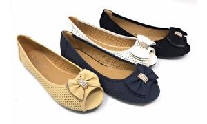 Raquel's Open Toe Fashion Flats