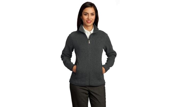 de263c1f8c Red House RH55 Ladies Sweater Fleece Full-Zip Jacket Grey Heather - Extra  Small One Size Grey Heather