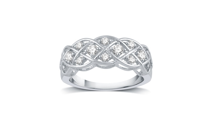 Up To 73 Off On 1 3 Cttw Diamond Ring Groupon Goods