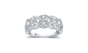 1/3 CTTW Diamond Criss Cross Ring in Sterling Silver by DeCarat