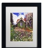 David Lloyd Glover 'The Painter's Studio' Matted Black Framed Art