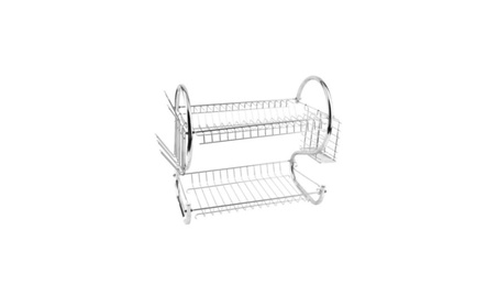 Housewares Home 2 Tiers Kitchen Dish Cup Drying Rack Holder Organizer 5de5e19d-4478-438a-826f-caae3cfbd5f0