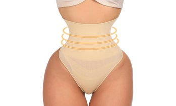 Women High Waist Open Butt Booty Lifter Postpartum Close Fit Tummy Control
