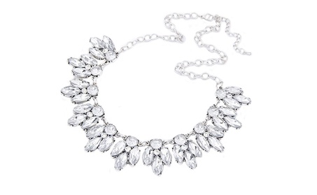 Luxury Rhinestone Bib Statement Pendant Necklace for Women 05d113db-61fc-490b-9ce5-8353db32fc3b