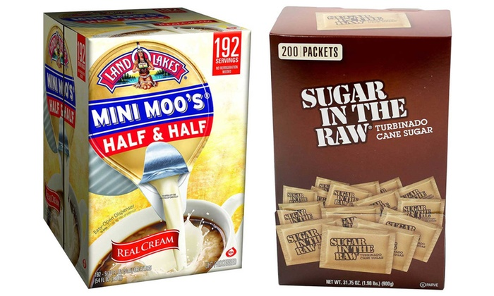 Sugar In The Raw 200 Count Packets Land O Lakes Mini Moos Creamer