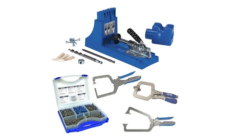 Kreg Jig K4 Pocket Hole System with Screw Kit and 3-pc Clamp Set 70f0f9da-d612-496c-b2f8-eee670911198
