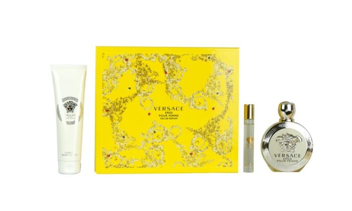 Versace Eros Pour Femme 3 pc Gift Set Eau De Parfum For Women   Groupon a454b22ab48