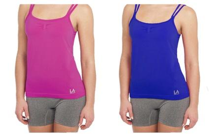 LA Gear Womens Seamless Sleek Active Camisole 5beba776-f0ab-45c0-bac7-5cafcae02da8