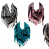 5 Pack - Colorful Lightweight Houndstooth Square  Scarf Set