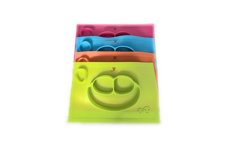 Happy Mat - One Piece Silicone Placemat + Plate 21b5f06d-be94-4446-be8e-2b42cde666f8
