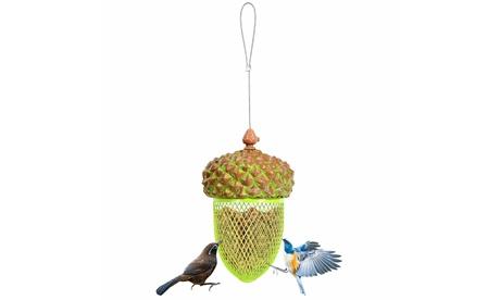 Costway Metal Acorn Wild Bird Feeder Outdoor Hanging Food Dispenser (Goods For The Home Patio & Garden Bird Feeders & Food) photo