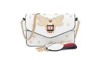 Women's Bee Purses Handbags Fashion Shoulder Crossbody Bags Satchel White (Citizen Save) photo