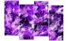 Purple Rose Garden - Floral Metal Wall Art