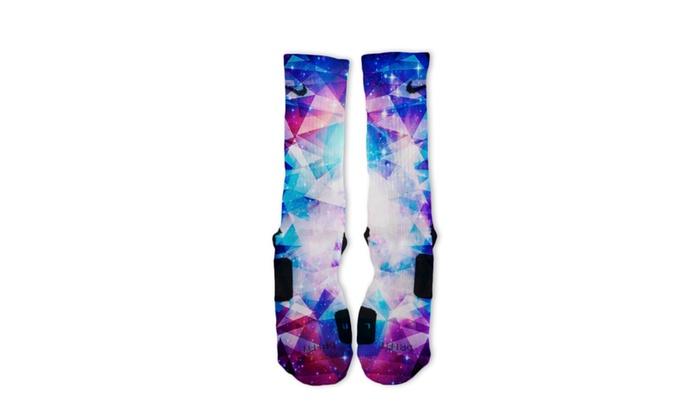 Custom Galaxy Prism Nike Elite Socks