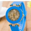 Silicone Gold Crystal Casual Watch for Women