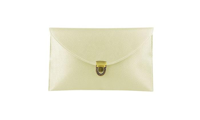 Zodaca Ladies Women PU Leather Shoulder Bag Handbag w Chain Beige