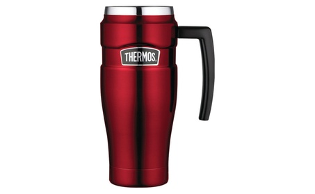 Thermos Stainless King 16 Ounce Travel Mug with Handle, Cranberry be1f0f3f-1cb5-4038-90a4-b42ed6fab094