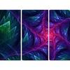 Purple Turbine in the Night - Abstract Wall Art - 48x28 - 4 Panel