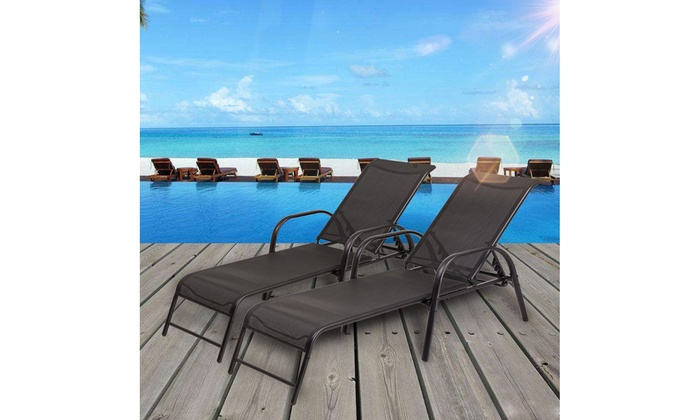 Superb Up To 25 Off On Set Of 2 Patio Lounge Chairs Groupon Spiritservingveterans Wood Chair Design Ideas Spiritservingveteransorg