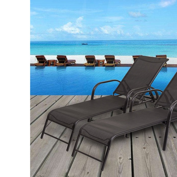 Up To 66 Off On Set Of 2 Patio Lounge Chairs Groupon Goods