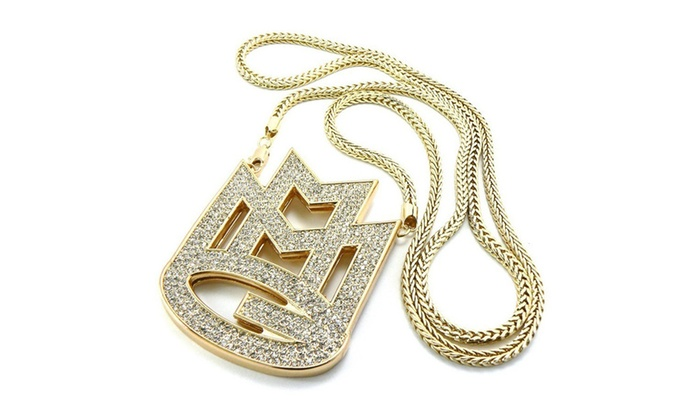 New iced out gold rick ross maybach music group mmg pendent necklace aloadofball Gallery