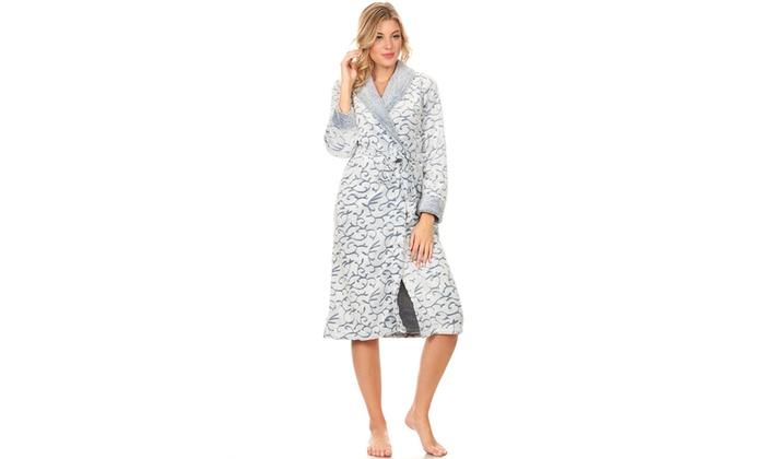 Lati Fashion Women s Long Plush Robe  72437a05c