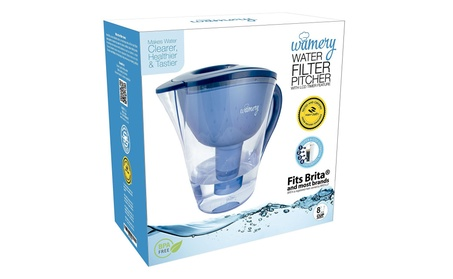 Water Filter Pitcher 8 Cup with LED indicator. c428964d-cb8a-40cc-96a8-ee75c40b8325