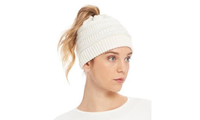 Up To 8% Off on Women s Ponytail CC Beanie  652d2344bee