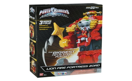 "Power Rangers Ninja Steel Lion Fire Fortress Zord 20"" Action Figure 8ef73671-6223-4bc7-b537-9ccff230868c"