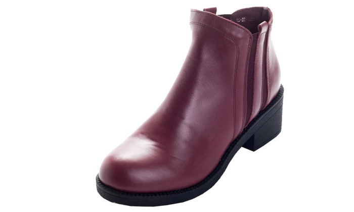 Women's Leather Solid High Heels Boot