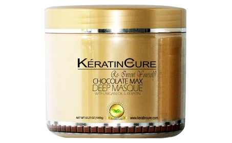 Keratin Cure Deep Hair Reparation Masque Chocolate Max with 1000g/32oz f845384a-d132-4cb0-9381-3aad9799d521
