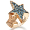 Silver Coffee Star Color Ring for Woman