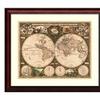 Ward Maps 'World Map, 1660' Framed Art Print 29x25-in